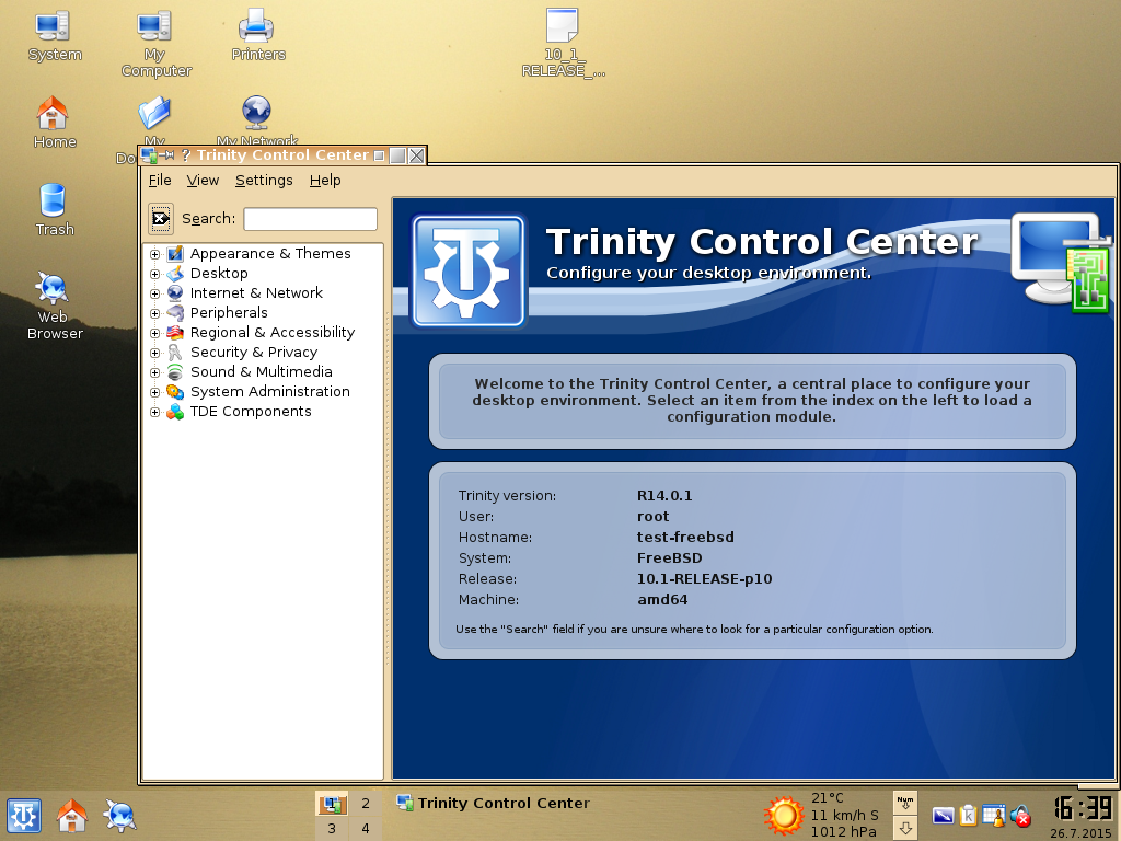 Trinity R14.0.1 Desktop on FreeBSD